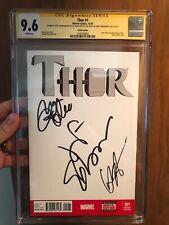 Thor #1 Blank Cover CGC 9.6 SSx3 Goldblum, Hemsworth, Ruffalo Signed