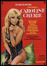 CAROLINE CHERIE German A1 movie poster 23x33 FRANCE ANGLADE KARIN DOR AZNAVOUR