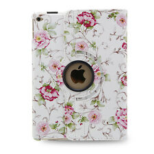 For Apple iPad Mini 4 4th Gen 360 Rotating Leather Smart Case Cover Stand White