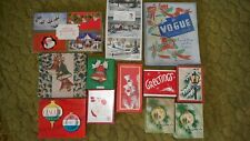 vintage christmas cards boxes 1960's