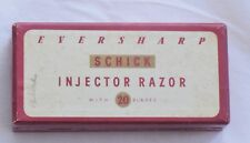 Vtg SCHICK Eversharp Injector Razor with 20 Blades Box Only Collectible