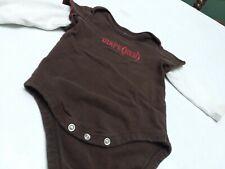 Gap Baby brown long sleeve bodysuit 6-12 Month Diape(red)