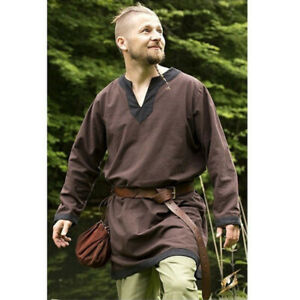 Medieval Renaissance Viking Men's Shirt Blouse Top Pirate Knight Cosplay Costume