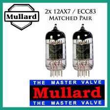 New 2x Mullard 12AX7 / ECC83 | Matched Pair / Duet / Two Tubes | Free Ship