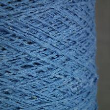 Hilo de Seda Lana puncha-Azul Aciano - 500g cono - 3 capas de punto Tejido Crochet Rústico