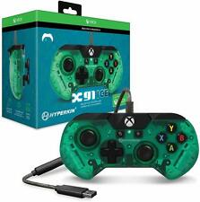 Hyperkin Official X91 Ice Wired Controller for Xbox One/Windows 10 PC Aqua Green