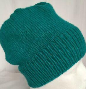 hand-knitted acrylic slouchy-beanies 50-54cm head  sew-ezy-australia