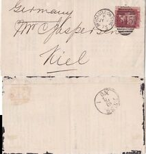 G.B. 1875 Sales letter for good sold in Newcastle. Sent to Germany
