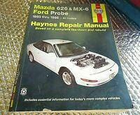 Haynes Repair Manual 93-98 Ford Probe & Mazda 626 & MX8