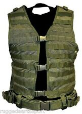 OD GREEN Tactical MOLLE PALS VEST with Belt, HydrationSystem Compatible CPV2915G