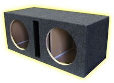 """Subwoofer Box 12"""" Dual Slot Vent R/T Enclosure Made in USA"""