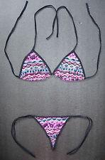 Sexy Tanga Bikini Ropa de playa Traje de Baño Bikini Patrón De Varios Colores Tanga Regalo