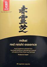 3 X esencia Mikei Rojo Reishi Mushroom 30 Cápsulas