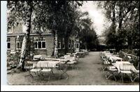 Restaurant Müggenbusch b. Lübeck Biergarten 50/60er Jahre alte Ansichtskarte