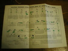 Planches/gravures science médecine Culture physique adultes des 2 sexes  an 1920
