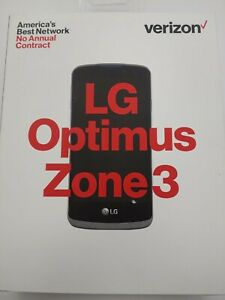 LG Optimus Zone 3 VS425 - 8GB - Black (Verizon) Smartphone