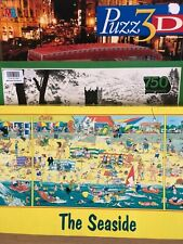3 Lots-Jigsaw Puzzles-The Geldart Collection-London Bus 3D-The Seaside-Game-Toys