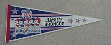 1990 SB XXIV 49ERS BRONCOS GAME DAY PENNANT SNOOPY UNSOLD BUY ONE GET ONE FREE