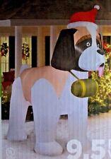 Gemmy St Bernard Dog w/Santa Hat 9.5 FT Airblown Inflatable Christmas Decor