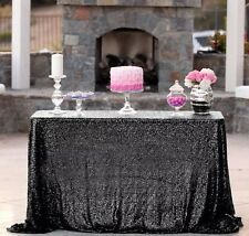 Black sequin rectangle tablecloth 90x132