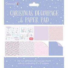 Dovecraft Christmas Decoupage & paper Pad ~ 8x8 decoupage sheets ~ Purple (Bear)