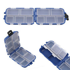 10 Compartments Storage Case Box Fly Fishing Lure Spoon Hook Bait Tackle Boxes