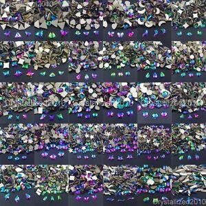 Multi-Color Czech Crystal Rhinestone Flatback Nail Art Manicure Vitrail Medium