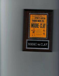ARCHIE MOORE VS CASSIUS CLAY PLAQUE BOXING CHAMPION PHOTO PLAQUE MUHAMMAD ALI