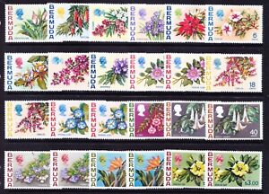 BERMUDA QEII 1970 SG249/65a set of 24 - Flowers - unmounted mint. Catalogue £50