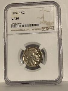 1926 s Indian Head Buffalo Nickel NGC VF 30