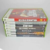 XBOX 360 Red Dead Redemption Bioshock 7 Game Lot Complete Star Trek Thief Juarez