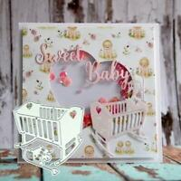 Baby Crib Metal Cutting Dies Metal Stencil DIY Scrapbooking Album Crafts Paper
