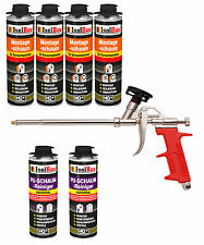 Pistolenschaum 4 x 500 ml + 1 Metall Schaumpistole +2 PU Reiniger Montageschaum