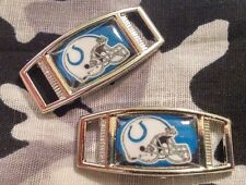 Set Of 2 Indianapolis Colts NFL Shoelace Charms For Paracord Projects