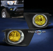 2012-2015 TOYOTA TACOMA BUMPER YELLOW FOG LIGHT+CHROME TRIM COVER+HARNESS+SWITCH