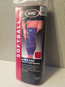 "BIKE Softball Long Version Knee Pad #7256 RED/ ONE Knee Pad Adult Lg 15""-17"" NWT"