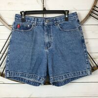 Guess Mom Jean Shorts Size 30 Stone Wash High Waist Made in Mexico Inseam 6""