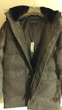 Brooks Brothers Italian Wool Down Filled Parka Water Resistant Coat Hood