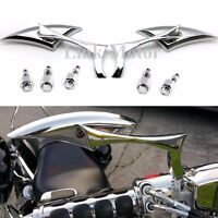 8&10MM CHROME SPEAR REARVIEW MIRRORS FOR MOTORCYCLE SPORTS BIKES CRUISER SCOOTER