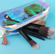 Iridescent Makeup Cosmetic Bag  Pencil Case With Tassel