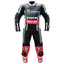 KAWASAKI Men Racing Biker Leather Suit Motogp Motorbike/Motorcycle Leather Suits