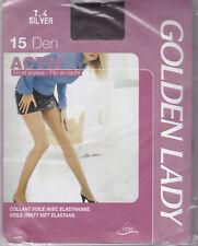 GOLDEN LADY ACTIV 15 - COLLANT VOILE SOYEUX LYCRA SILVER - 15 DEN  T. 4 LARGE