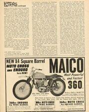1968 Maico 360cc Enduro / Motocross Vintage Motorcycle Ad