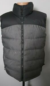 The North Face Gray 700 Goose Down Puffer Vest Jacket Mens Size M