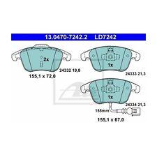 ATE 13.0470-7242.2 Bremsbelagsatz, Scheibenbremse ATE Ceramic   für VW Tiguan