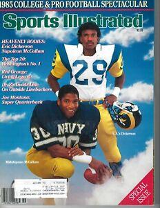 1985 Sports Illustrated football Eric Dickerson Los Angeles Rams, McCollum Navy