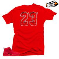 Shirt to Match Jordan 12 Bulls-23 Red Tee