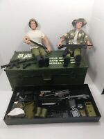"1992 G.I. Joe  12"" GRUNT Action Figures Accessories Carrying Case Weapons"