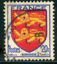 STAMP / TIMBRE FRANCE OBLITERE N° 605  BLASON / NORMANDIE