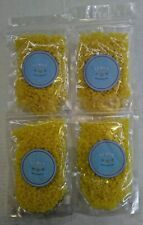 New Lot of 4 Yellow Hot Film Hard Wax Beads Pellet Waxing Body Hair Removal 3*A1